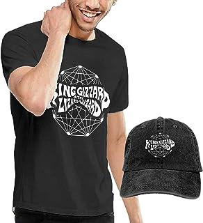 maichengxuan King Gizz-ard y Liz-ard Wizard Camisetas y sombreros de béisbol de mezclilla lavados