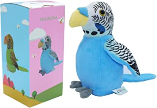 Talking Parrot Repeats Upgrade Newest Talking Parrot What You Say With Cute Voice - Electronic Pet Talking Plush Parrot for Child Kids gift Party Plush Toy Gift Birthday Gift Kids Early Learning