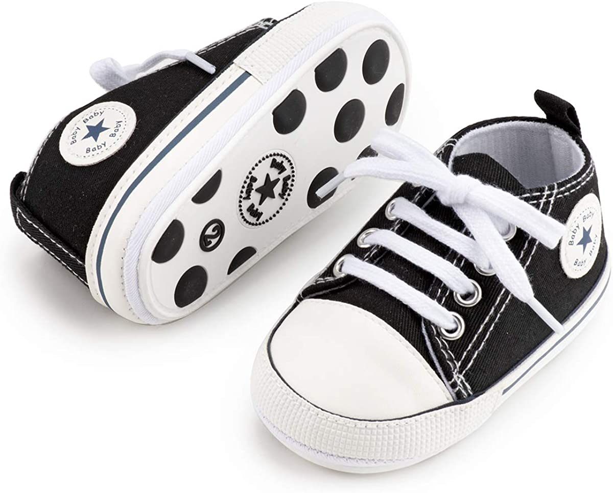 Japan's largest assortment KIDSUN Unisex Baby Boy Girl Canvas Sneaker Soft Ankle Infan Sole trust