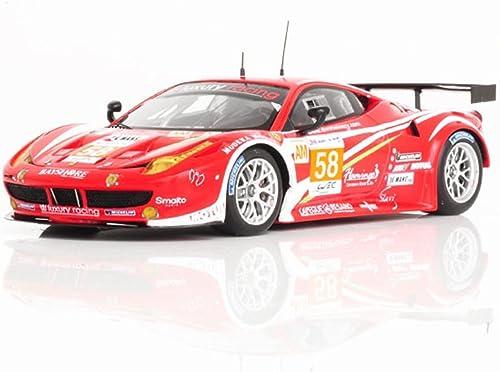 Ferrari 458 Italia GT2, No.58, Luxury Racing, 24h Le Mans, 2012, Modellauto, Fertigmodell, Fujimi 1 43