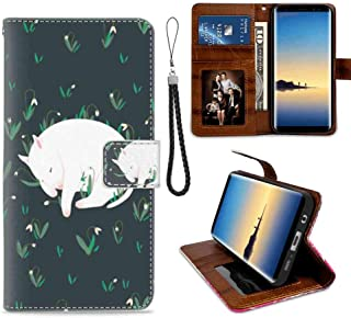 Bull Terrier Wallet Case Compatible Samsung Galaxy S7 (2016) 5.1 Version with Coin Slot