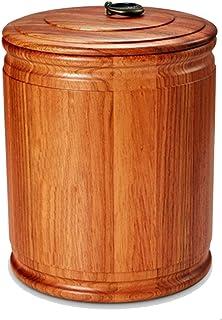 Pots et bocaux de conservation Baril de riz en bois massif Réservoir de stockage de grains scellé résistant aux insectes e...