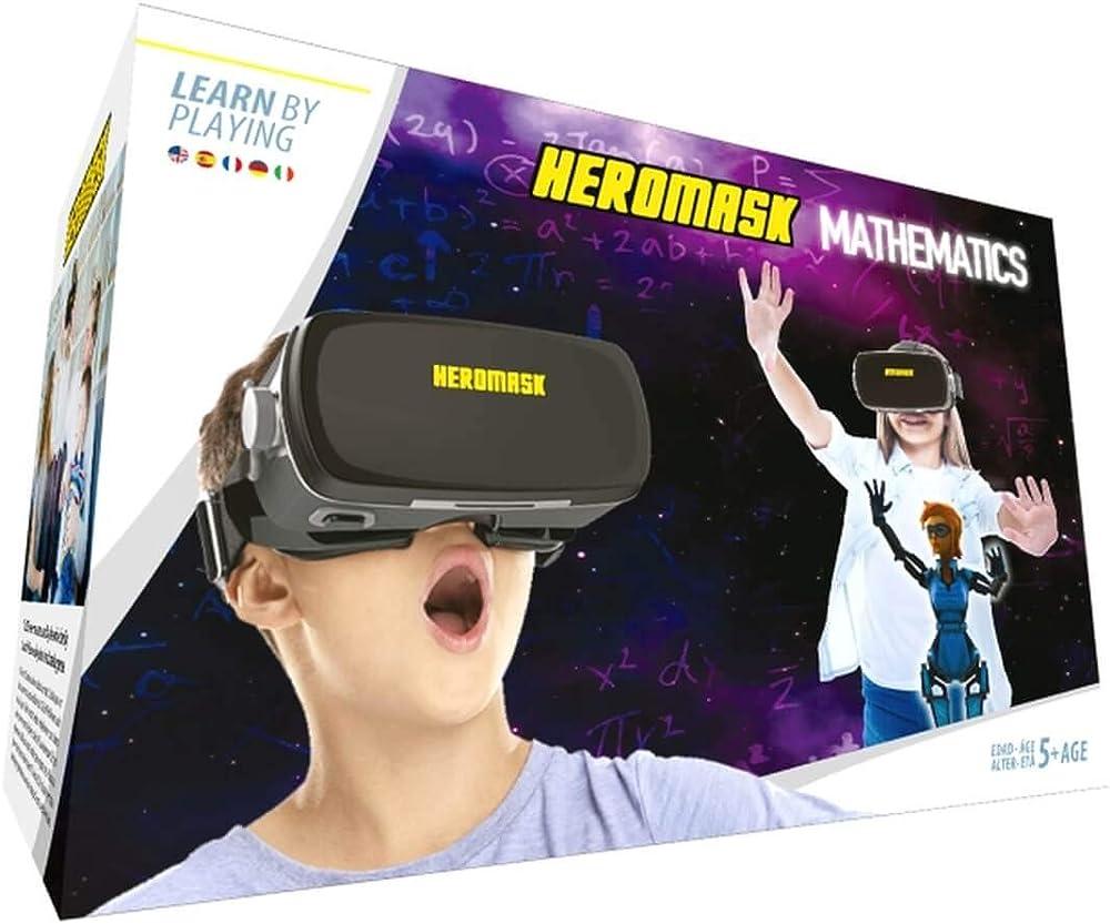 Heromask, occhiali visore vr realta` virtuale piu` gioco educativo per bambini dai 5 agli 12 anni, HM-M001
