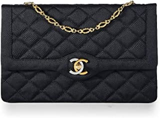 33575fc128d9 CHANEL Black Quilted Satin Paris Limited Flap Bag (Pre-Owned)