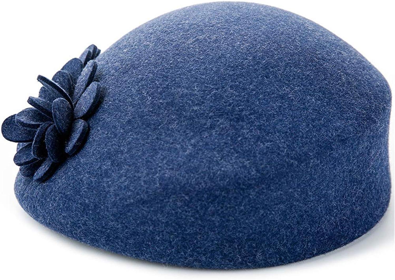 Womens Beret Winter Hat Visor Beret Cap Women Beret Winter Knit Women Beret Artist Hat (color   bluee)
