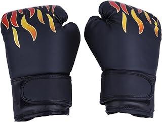 Fdit 3 färger PU barn boxhandskar Barn Cartoon MMA Sparring träningshandskar Andas Muay Thai sandväska handskar (svart)