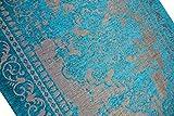 Moderner Teppich Designer Teppich Orientteppich Wohnzimmer Teppich mit Bordüre in Türkis Beige Größe 160x230 cm - 5