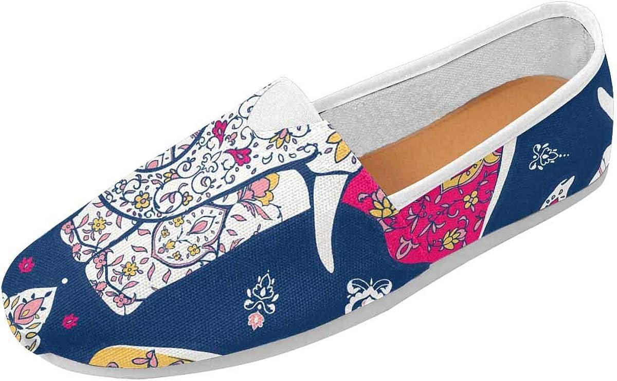 INTERESTPRINT Mandala and Elephant Classics Women's Slip On Loafer Shoes (US4.5~US14)