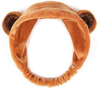 Lovely Soft Carol Fleece Panda Bear Makeup Cosmetic Shower Elastic Hair Band Spa Headband Wash Face Hairlace Headband (Bear)