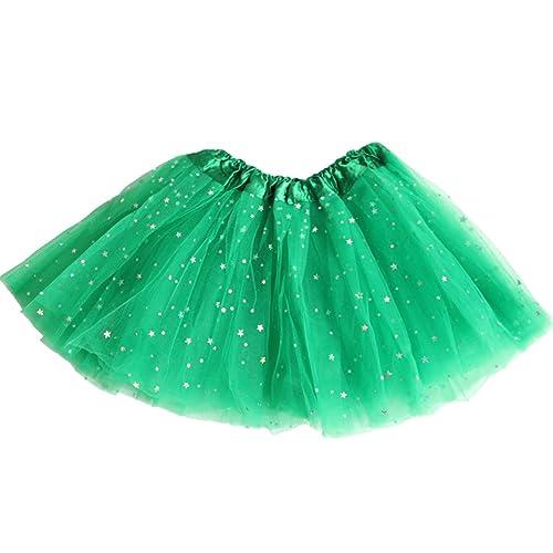 8561add54 AMORETU Womens Short Tulle Skirt 3 Layers Star Sequin Sparkling Ballet Tutu