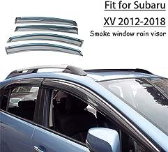 APcjerp 4PCS Auto Anti graffiatura della Copertura in Fibra di Carbonio Protector Adesivi Auto davanzale della Porta Guardie Porta Soglia Piastra Accessori Color : Black White for la Subaru XV