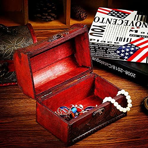 MUY Soporte de Caja Caja de Almacenamiento de joyería de Madera Organizador de Cofre del Tesoro Vintagepara Mujer Caja de Recuerdo