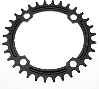 FOMTOR 32T 34T 36T Oval Chainring 104 BCD Oval Narrow Wide Chainring for Road Bike, Mountain Bike, BMX MTB