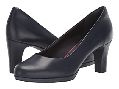 Rockport Total Motion Leah Pump (Dark Sapphire Leather) Women