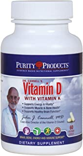 Dr. Cannell's Advanced D with Extra K2 (MK-4 and MK-7), 60 Capsules