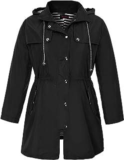 6090273b436 Hanna Nikole Women s Plus Size Waterproof Raincoats Outdoor Hooded Rain  Jacket Windbreaker