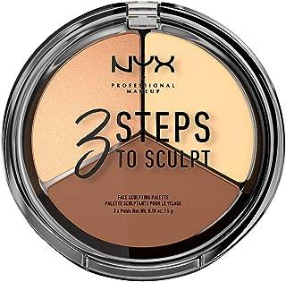 NYX PROFESSIONAL MAKEUP 3 Steps To Sculpt Face Sculpting Palette, Light, 0.54 Ounce