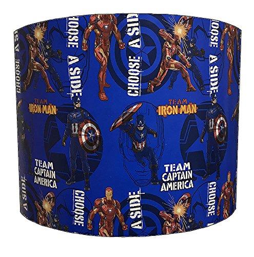 DELPH DESIGN LIGHTING LTD 20,3 cm Captain America VS Spiderman pour Enfant Abat-Jour pour Une Lampe de Table, 30,5 cm