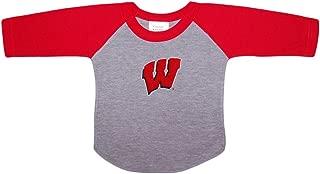 University of Wisconsin Badgers Baby and Toddler 2-Tone Raglan Baseball Shirt