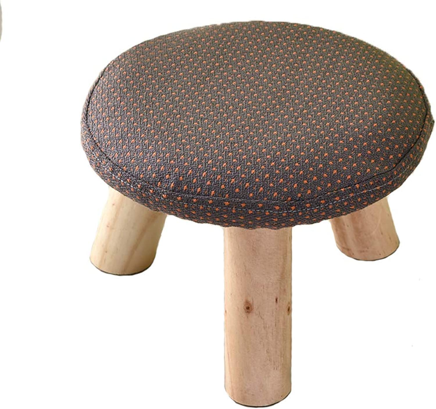 HLJ Modern Minimalist Small Round Stool Personality Fashion Home Small Bench Creative Adult Small Bench
