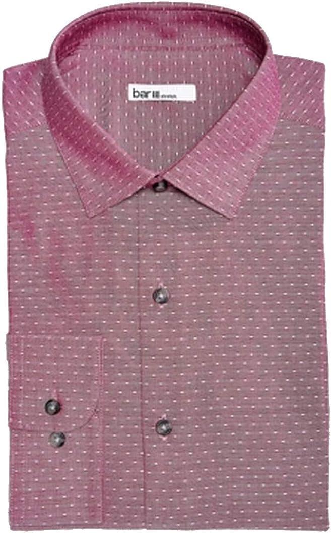 bar III Mens Dobby Button Up Dress Shirt