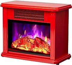 ZXCVBNM Chimenea eléctrica Eléctrico De Chimenea 1000/2000 W Efecto Llama Decoración Calefactor Chimenea Electrica Vertical 1000 / 2000W Suite con Chimenea eléctrica (Color : Red)