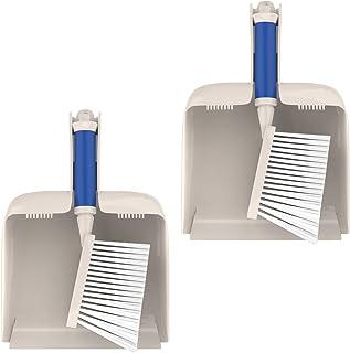 Nirox Set van 2 Handborstels Grijs - Handborstel en stoffer voor moeiteloos schoonmaken - Veelzijdige toepasselijk veegset...