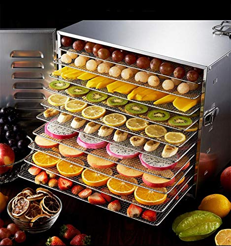Find Bargain SISHUINIANHUA Household 10 Tray Stainless Steel Nuts Dry Machine Fruits and Vegetables ...