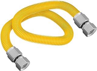 Flextron FTGC-YC38-72H 182 cm elastyczne złącze suszarki gazowej pokryte żywicą epoksydową z zewnętrzną średnicą 1/2 cala ...