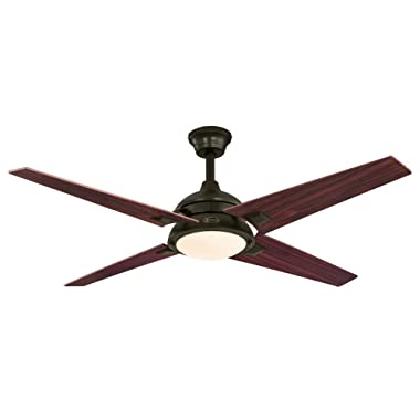 Westinghouse Lighting 7207400 DeSoto 52-inch Oil Rubbed Bronze Indoor Ceiling Fan, LED Light Kit with Opal Frosted Glass