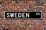 Aersing Metall Schild Post Schweden Geschenk Schild Souvenir Schweden Native Schweden Urlaub Momento Plakette Wandaufkleber Home Dekoration Street Schild