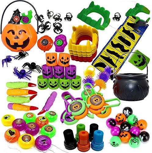 THE TWIDDLERS Set de 110 Juguetes de Fiesta de Halloween Sorpresas - Piñatas - Halloween Juguetes - Fiesta Regalos Bolsas - Trick or Treat Favores