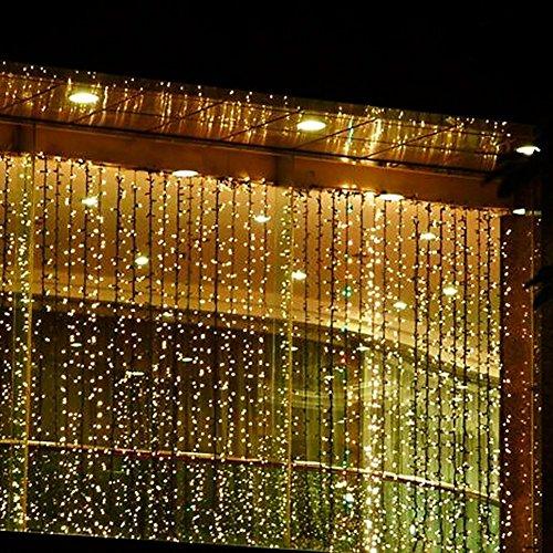 E-Plaza 4M x 3M 400 LED Cubierta Al aire libre LED Cortina Ligero para