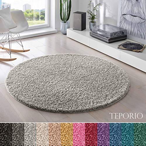 Teporio Shaggy-Teppich | Flauschiger Hochflor fürs Wohnzimmer, Schlafzimmer oder Kinderzimmer |...