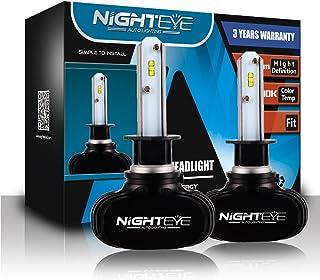 Nighteye Bombillas LED para faro de coche–H1H4H750W 8000lm Set 6500K blanco frío
