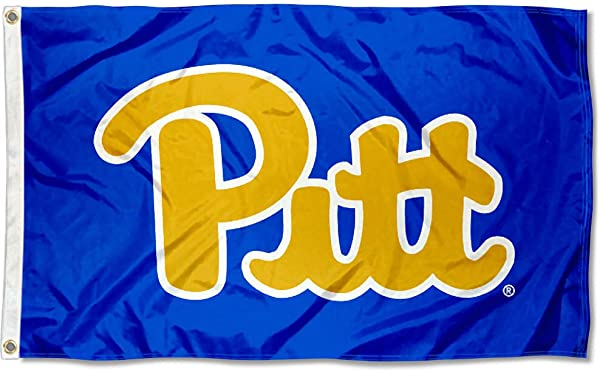 College Flags And Banners Co Pittsburgh Panthers Throwback Royal Blue Flag