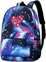 Mochila resistente a la moda para hombres y mujeres Cutie College bolsa de viaje bolsa de libros de cielo estrellado mochila