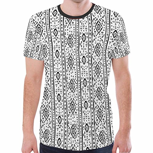 Longsheng Men's Fashion Round Neck Tops Short Sleeve Blouse Casual T-shirt