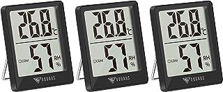 DOQAUS 3 Piezas Mini Termómetro Higrómetro Digital, Medidor de Temperatura con 5s de Respuesta Rápida para Temperatura y H...