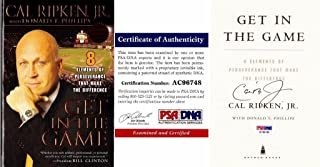 Cal Ripken Jr. Signed - Autographed Get in the Game Book with Certificate of Authenticity (COA) - Baltimore Orioles - PSA/DNA Certified