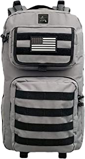 Storkruck Diaper Bag Backpack, Changing pad Included, Molle System, Magnetic Wipes Pouch, Thermic Baby Bottle Holders, Stroller Grip Mount, Picnic Blanket Holder, Active, Tactical Diaper Backpack