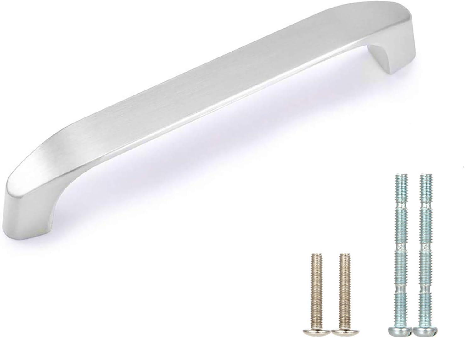 0.6 Dresser Knob Pulls Drawer Pull Handles Mirror Silver Chrome Nickel Steel Kitchen Cabinet Handles Knobs Door Handle Modern Square 16 mm