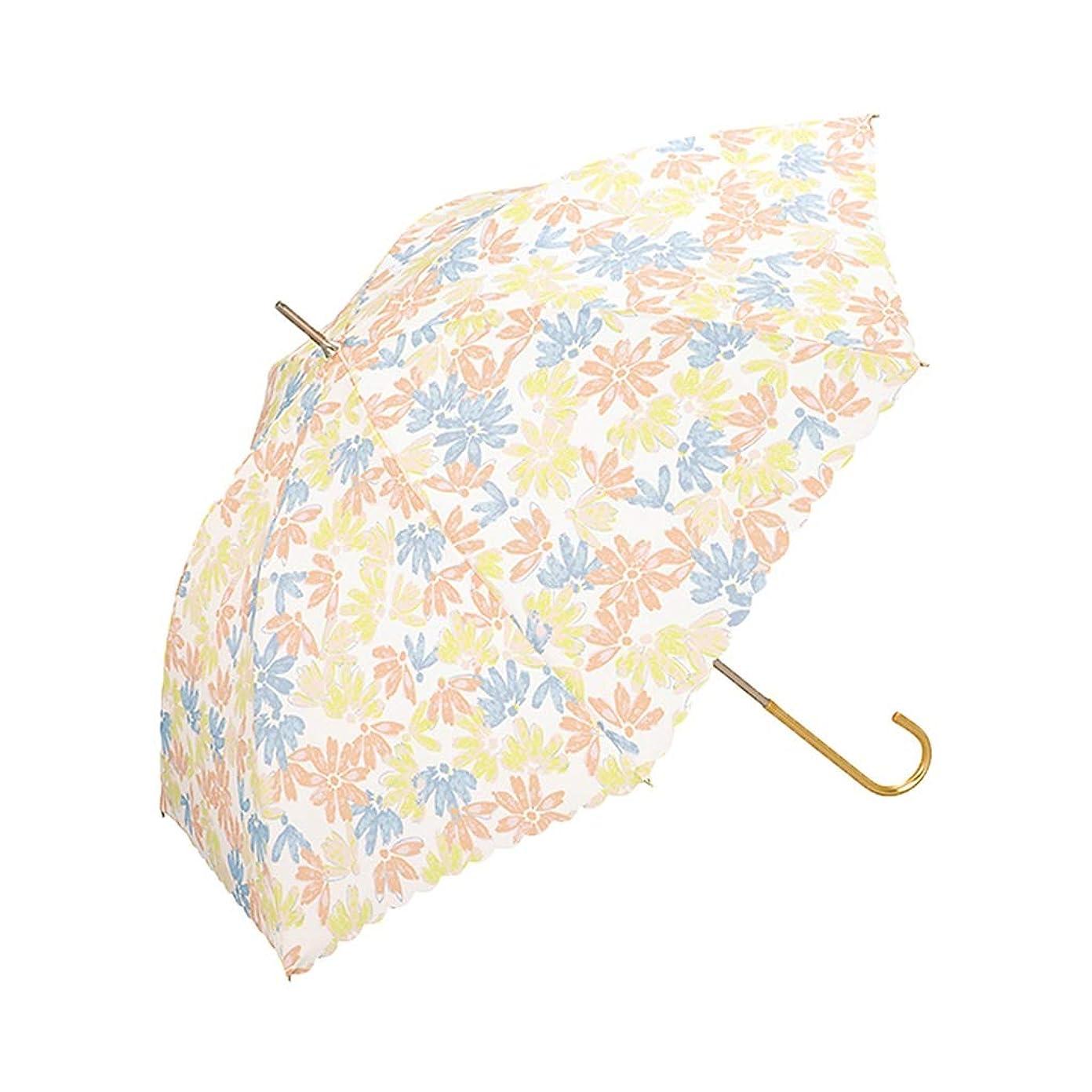 メナジェリーゆるくスロット家庭用傘花柄の長い柄の傘雨と雨の傘日傘緑色、黄色はオプション ズトイビー (Color : Yellow)