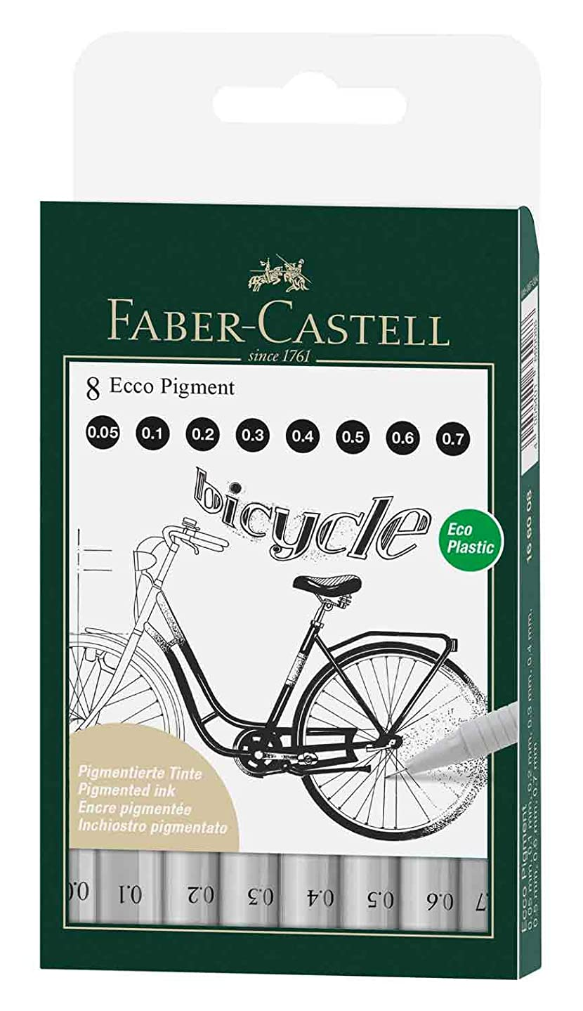 Faber Castell FC166008 Ecco Pigment Wallet (Pack of 8)