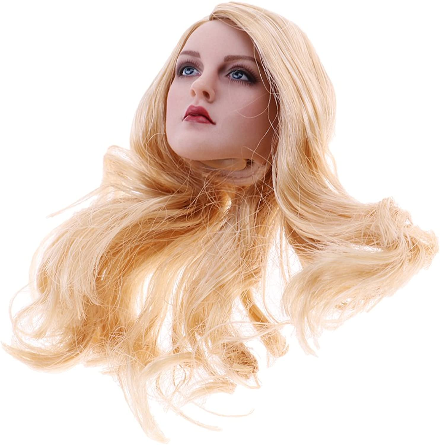 Homyl 1 6 Female Body Head Sculpture Long golden Hair for 12'' CY CG Figure Models
