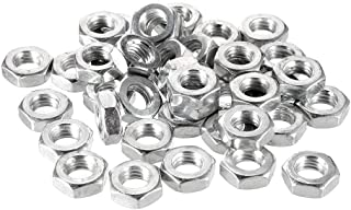 uxcell Hex Nuts, M10x1.5mm Metric Coarse Thread Hexagon Nut, Carbon Steel, Pack of 40 Silver Tone