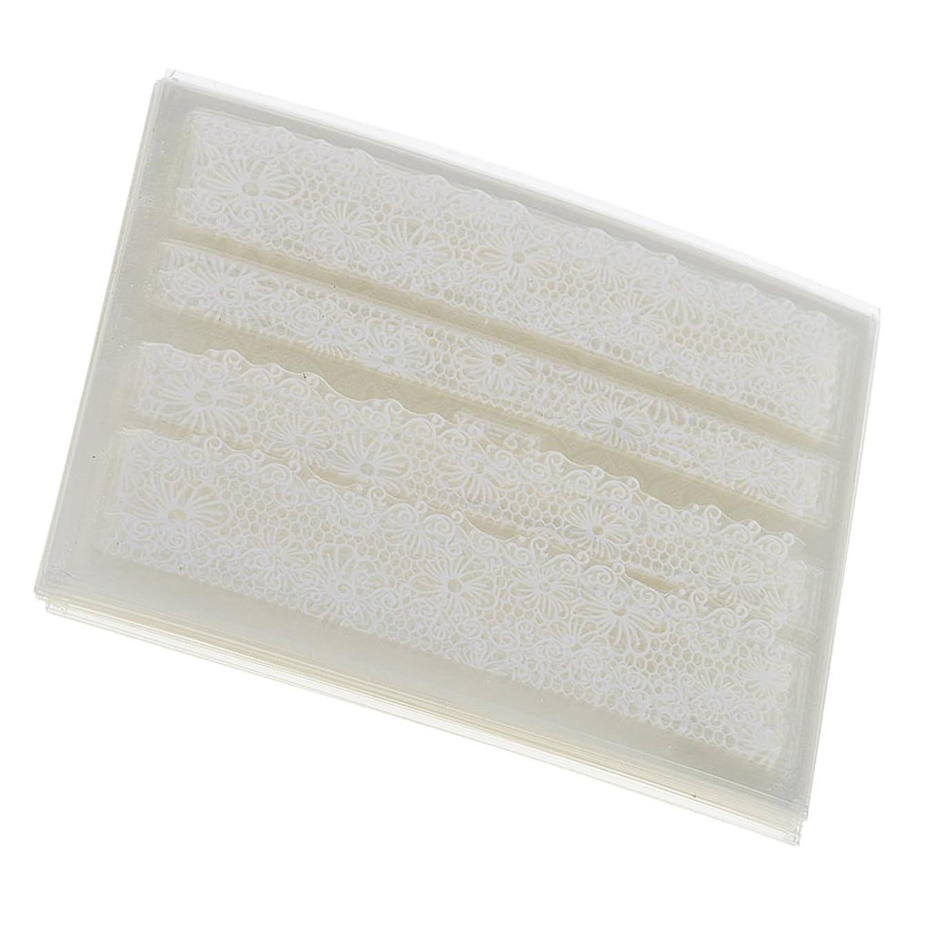 しっとり鎮静剤インセンティブSONONIA 30シート レース ステッカー DIY 爪装飾 レースフラワー ネイルアート ツール 白 30枚入り