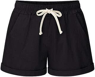 Drem-wardrobe Flared Pants Summer Women Wide Leg Shorts Cotton High Waist Drawstring Pockets Girl Casual Shorts M-6Xl Aic88