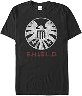 Marvel Men's Agents of Shield Distressed Logo T-Shirt