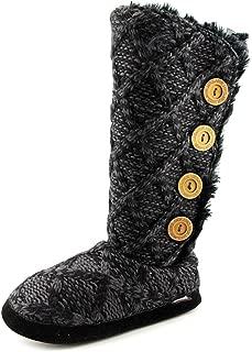 Womens Malena Faux Fur Knee-High Winter Boots Black 6.5-7.5